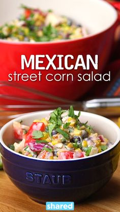 If you are looking for a new way to spice up your appetizer game, this Mexican Street Corn Salad is the perfect addition to any party. You can use it as a dip, with burritos, or just eat it as is.  To make this dish you are going to need a good whisk to make sure your ingredients blend together perfectly and we recommend this Zwilling Twin Pure Large Whisk. This is such a yummy treat, you are going to love it!