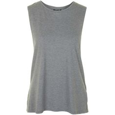 TOPSHOP Washed Tank Top ($15) ❤ liked on Polyvore featuring tops, tank tops, tanks, shirts, t-shirts, grey, crew neck tank top, topshop, gray top and gray tank top
