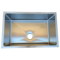 Update your home's decor with this single bowl undermount kitchen sink. This basic yet highly useful sink basin is constructed with durable 16-gauge 304 stainless steel to provide strong support and lasting power.