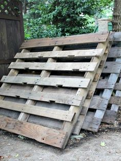 Pallets Old upcycled wood pallet walkway, concrete masonry, pallet - See how you can turn a couple of old wood pallets into a garden walkway, perfect for keeping feet dry and keeping weeds in check! Find some old pallets. You wa… Wood Pallet Walkway, Wood Pallet Crafts, Diy Pallet Projects, Garden Projects, Diy Wood, Pallet Ideas, Outdoor Projects, Garden Ideas, Pallet Designs