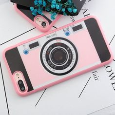 Retro Camera iPhone case made from soft-silicone. Compatible iPhone models: 5 / 5s / SE, 6 / 6s, 6 / 6s Plus, 7, 7 Plus Case protects your iPhone while the silky, soft-touch silicone feels great in yo