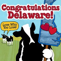 A great big congratulations to Delaware for supporting marriage equality! We're another step closer to everyone having the right to love who they love.