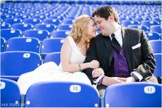 Ravens Stadium Football Field Wedding Photos •  tPoz Photography  •  www.tpozphotoblog.com