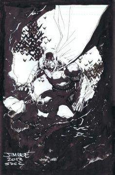batman sketch by jim lee.
