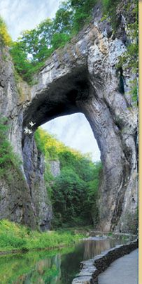 The Natural Bridge, Virginia. Once owned by Thomas Jefferson, surveyed by a young George Washington, and traversed by Civil War soldiers - the Natural Bridge is a portal to history. In Virginia's beautiful Shenandoah Valley. Oh The Places You'll Go, Places To Travel, Places To Visit, Travel Destinations, Natural Bridge Virginia, Shenandoah Valley, Shenandoah Virginia, Shenandoah Mountains, Virginia Mountains