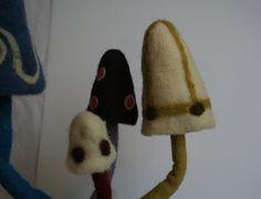 Handmade artisan felted light mushroom by Trippyhandmades on Etsy