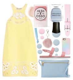 """""""Pastel Play"""" by randomfashioncollections ❤ liked on Polyvore featuring Deborah Lippmann, Casetify, Cynthia Rowley, Emilio Pucci, Ancient Greek Sandals, Michele, By Terry, Olio E Osso, Dorothy Perkins and Ribband"""
