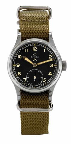 33: Omega British Military Aviator Watch Steel 1944 : Lot 33