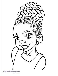 free african american childrens coloring pages danaclarkcolorscom - Coloring Page Girl