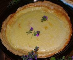 """Daryoles Medieval Custard Pie. A variation on a dish featured in """"Two Fifteenth-Century Cookery-Books"""" by Thomas Austin."""