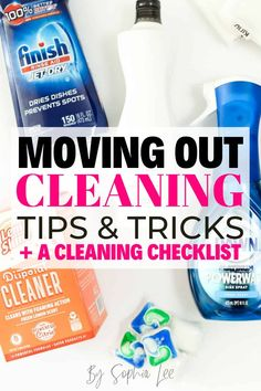 These moving out cleaning tips are so good and I am so happy I came accross this post! The cleaning products Sophia recommends are always so good and I can't wait to try all of them! Moving House Tips, Moving Tips, Moving Out, Moving Hacks, Cleaning Checklist, Cleaning Tips, Move Out Cleaning, Bathroom Cleaning Hacks, Hacks Videos