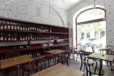 The wine bar where Jill and Max meet up. Fun Wine Glasses, Glasses Online, Prague, The Selection, Interior Design, Wine Bars, Table, Inspiration, Furniture