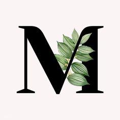 Beautiful Lettering, Beautiful Fonts, Floral Letters, Monogram Letters, Letter M Logo, Tumblr Wallpaper, M Letter Design, Aesthetic Letters, Alphabet