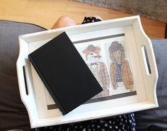 Bookish DIY: Knietablett selber nähen - mit bedruckten Buchseiten