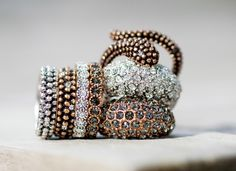 Bangles, Beaded Bracelets, Snake Ring, Crystals, Diamond, Rings, Euro, Sea, Jewelry