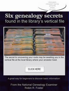 Have you ever peered into one of these? Six genealogy secrets found in the library's vertical file.