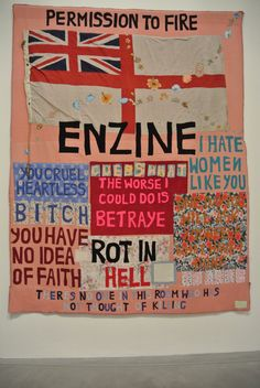 Tracey Emin - Hate and power can be a terrible thing - 2004 - courtesy White Cube, London Political Art, Political Events, Graffiti, Bayeux Tapestry, Tracey Emin, Protest Art, Tate Gallery, Textiles, Human Emotions