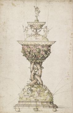 Albrecht Dürer (1471-1528), Design for a Table Fountain, around 1500