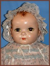 All Original Adorable Huge 27'' Composition Baby Doll by Ideal - possibly Plassie