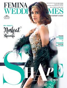 Nushrat Bharucha looks Stunning and Sexy Beauty in Traditional Wedding Outfit in Latest Photoshoot for Cover Photo Wedding Times Magazine Celebrity Magazines, Perfect Bride, Shape Magazine, Big Fashion, Latest Pics, Looking Stunning, Bollywood Actress, Photoshoot, Wedding Times