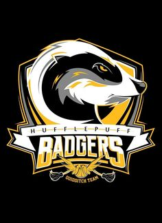 Hogwarts Quidditch Team Badges: Hufflepuff Badgers - by Mitch Ludwig