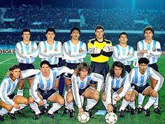 EQUIPOS DE FÚTBOL: SELECCIÓN DE ARGENTINA 1990-91