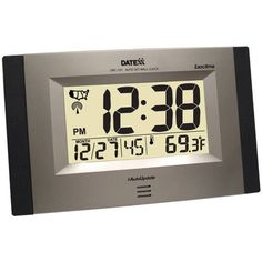 Kadams Digital Wall Clock With Alarm Seconds Counter Calendar Date Snooze