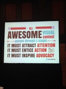 Reflections From Social Media Marketing World 2014 (#SMMW14): Creating Visual Content w: Donna Moritz #SMMW14
