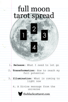 Tap into the full moon's energy with this Tarot Spread! Tap into the full moon's energy with this Tarot Spread!