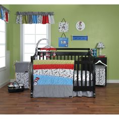 Trend Lab Dr. Seuss Cat in the Hat Crib Bedding Set