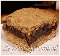 Le palais gourmand: Carrés à l'avoine et au chocolat