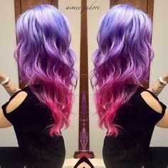 #ombrehair #purplehair #pinkhair #pastelhair @aimeejadore