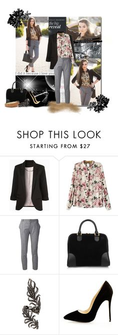 fashion by bouchra-re on Polyvore featuring mode, Bouchra Jarrar, Loewe, Elise Dray and FOSSIL