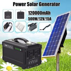 1 X Solar Generator. Input: Solar panel: faster charging for samll refrigerator 1 Cigar lighter. We will try our best to reduce the risk of the custom duties. Used Solar Panels, Solar Panel Kits, Solar Energy Panels, Solar Panels For Home, Solar Roof Tiles, Solar Generator, Solar House, Solar Panel Installation, Solar Energy System
