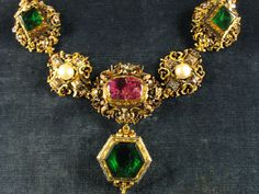 Emerald necklace at Germany's Munich Residenz