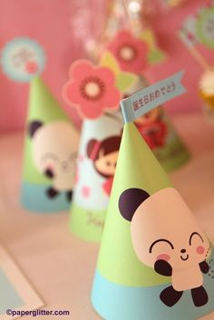 Panda Cherry Blossom Japanese Kawaii Love Birthday Party Kit-Printable PDF Complete Set 0006 on Etsy, $10.00