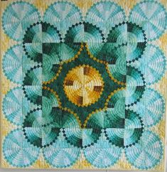 Unusual contemporary Dresden Plate quilt by Deb Geyer; love her use of color and value in this gorgeous art quilt