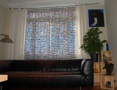 Upcycled 35mm film slide curtains, via Flickr.
