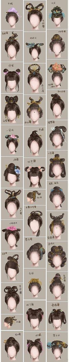 Diferentes peinados japoneses