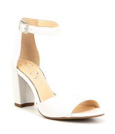 dc2354e5d791 Jessica Simpson Sherron Leather Ankle Strap Block Heel Sandals #Dillards Ankle  Strap Block Heel,