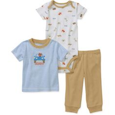 Child of Mine by Carters Newborn Boy Tee, Creeper, and Pants Set $5.00  - http://www.pinchingyourpennies.com/child-mine-carters-newborn-boy-tee-creeper-pants-set-5-00-online/ #Clearance, #Newbornclothingset, #Pinchingyourpennies