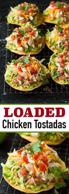 Loaded Chicken Tostada #dinner