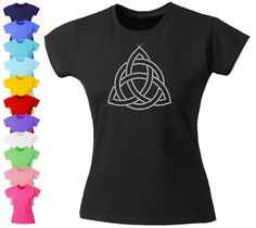 Girls Diamante Rhinestone Fitted Triquetra Celtic Knot Irish Dance T-Shirt Bling in Clothes, Shoes & Accessories, Kids' Clothes, Shoes & Accs., Girls' Clothing (2-16 Years) | eBay