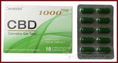 Canabidol CBD Gel-Tabs 1000mg (RAW) - Cannabidiol,  Phytocannabinoids, Terpenes,