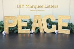 Peace DIY Marquee Le