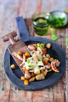Raclette Rezept Idee: Gröstlpfännchen