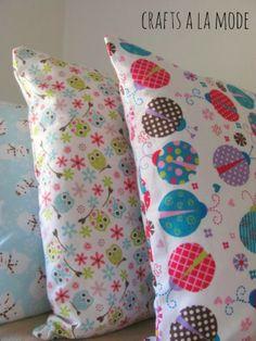 Super Easy kids flannel pillowcase