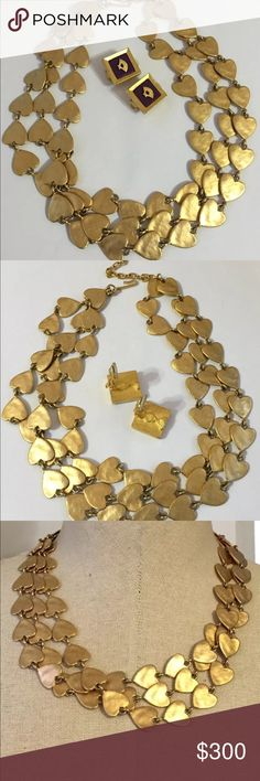 Karl Lagerfeld vintage necklace Very rare and ultra chic KL heavy vintage necklace and earrings set! Karl Lagerfeld Jewelry Necklaces