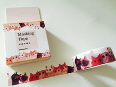 Cats Boxed Washi Tape by GoatGirlMH on Etsy