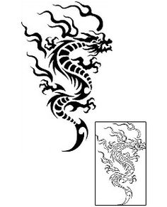Tribal Dragon Tattoos GPF-00124 Created by Gentle Jay Pedro